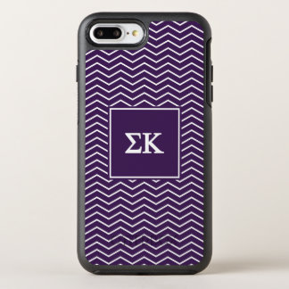 Capa Para iPhone 8 Plus/7 Plus OtterBox Symmetry Teste padrão do Kappa | Chevron do Sigma