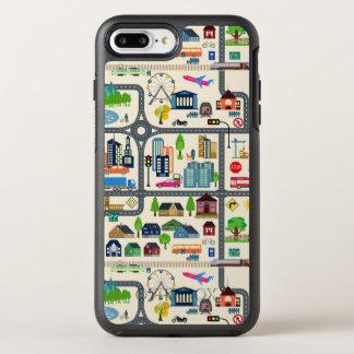 Capa Para iPhone 8 Plus/7 Plus OtterBox Symmetry Teste padrão do mapa da cidade