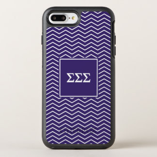 Capa Para iPhone 8 Plus/7 Plus OtterBox Symmetry Teste padrão do Sigma | Chevron do Sigma do Sigma