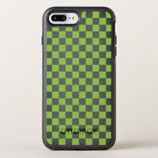 Capa Para iPhone 8 Plus/7 Plus OtterBox Symmetry Teste padrão do tabuleiro de damas do verde