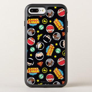Capa Para iPhone 8 Plus/7 Plus OtterBox Symmetry Teste padrão dos heróis e dos logotipos da liga de