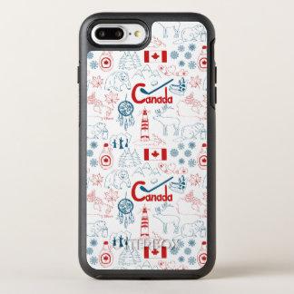 Capa Para iPhone 8 Plus/7 Plus OtterBox Symmetry Teste padrão dos símbolos de Canadá |