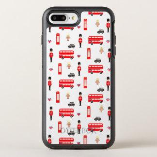 Capa Para iPhone 8 Plus/7 Plus OtterBox Symmetry Teste padrão dos símbolos de Inglaterra