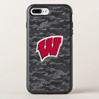 Capa Para iPhone 8 Plus/7 Plus OtterBox Symmetry Teste padrão escuro de Wisconsin   Digitas Camo