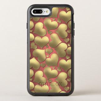 Capa Para iPhone 8 Plus/7 Plus OtterBox Symmetry Teste padrão feminino dos corações do ouro