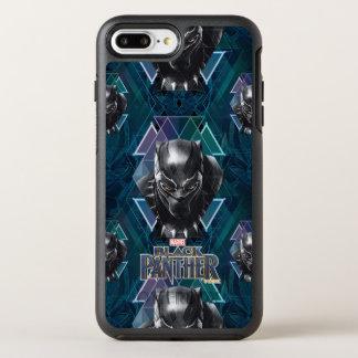 Capa Para iPhone 8 Plus/7 Plus OtterBox Symmetry Teste padrão geométrico preto do caráter da