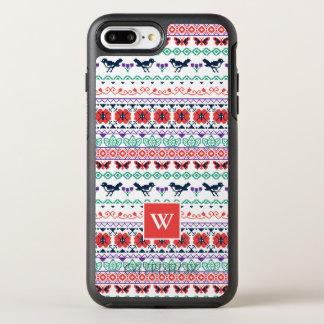 Capa Para iPhone 8 Plus/7 Plus OtterBox Symmetry Teste padrão mexicano de Frida Kahlo |