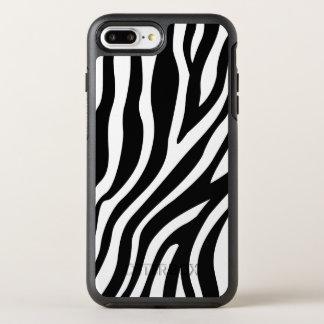Capa Para iPhone 8 Plus/7 Plus OtterBox Symmetry Teste padrão preto e branco das listras do