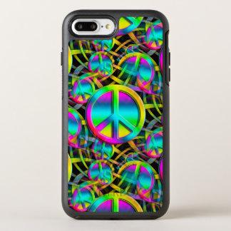 Capa Para iPhone 8 Plus/7 Plus OtterBox Symmetry Teste padrão sem emenda da PAZ colorida + suas