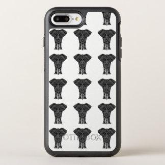 Capa Para iPhone 8 Plus/7 Plus OtterBox Symmetry Teste padrão tribal do elefante do caso de