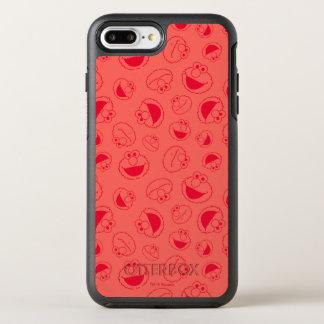 Capa Para iPhone 8 Plus/7 Plus OtterBox Symmetry Teste padrão vermelho impressionante de Elmo |