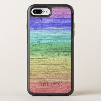 Capa Para iPhone 8 Plus/7 Plus OtterBox Symmetry Textura de madeira colorida arco-íris