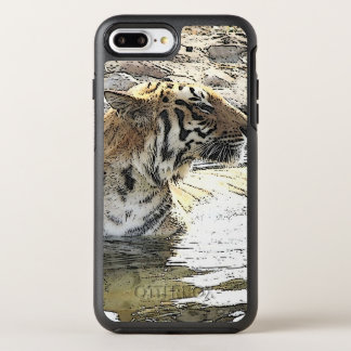 Capa Para iPhone 8 Plus/7 Plus OtterBox Symmetry Tigre 118 do carro