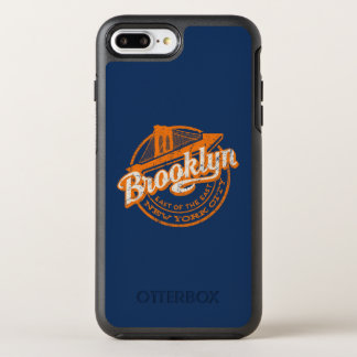 Capa Para iPhone 8 Plus/7 Plus OtterBox Symmetry Tipografia retro do vintage de Brooklyn, New York