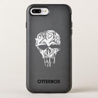 Capa Para iPhone 8 Plus/7 Plus OtterBox Symmetry Trabalhos de arte abstratos do crânio, pessoas