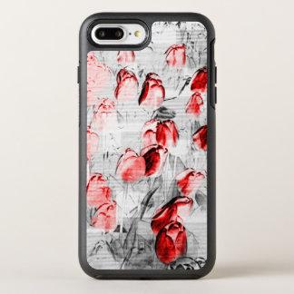 Capa Para iPhone 8 Plus/7 Plus OtterBox Symmetry Tulipas vermelhas gráficas