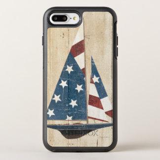 Capa Para iPhone 8 Plus/7 Plus OtterBox Symmetry Veleiro com bandeira americana