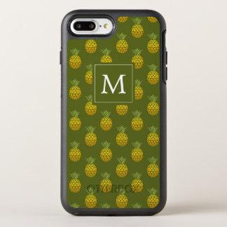 Capa Para iPhone 8 Plus/7 Plus OtterBox Symmetry Verde do monograma | & abacaxis do ouro