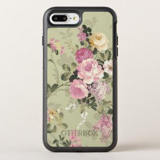 Capa Para iPhone 8 Plus/7 Plus OtterBox Symmetry Victorian dos rosas do vintage floral