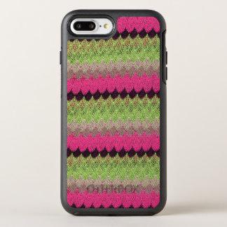 Capa Para iPhone 8 Plus/7 Plus OtterBox Symmetry Weave feito malha da onda do preto do verde da