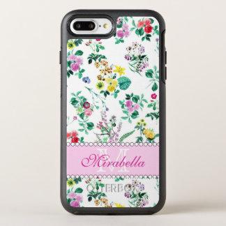 Capa Para iPhone 8 Plus/7 Plus OtterBox Symmetry Wildflowers & rosas amarelos vermelhos roxos