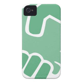 Capa Para iPhone Aperto de mão verde