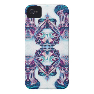 Capa Para iPhone Azul de pintura/roxo de Moscovo