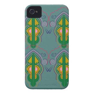 Capa Para iPhone Azul luxuoso do verde dos ornamento