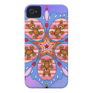 Capa Para iPhone Caleidoscópio dos ursos e das abelhas