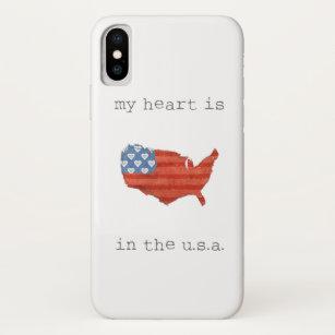 Capa Para iPhone Da Case-Mate A americana   meu coração está no mapa dos EUA