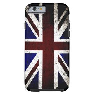 441ab33bf8 Capa Tough Para iPhone 6 Bandeira preta de Inglaterra do Grunge