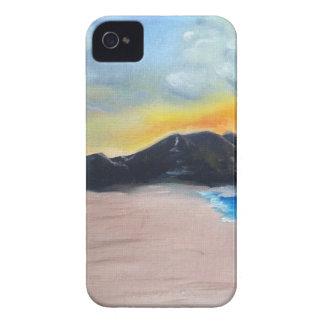 Capa Para iPhone Cena pintada da praia