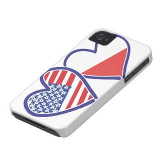 Capa Para iPhone Corações da bandeira do Polônia dos EUA