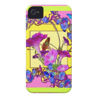Capa Para iPhone Corriolas cor-de-rosa do azul da arte