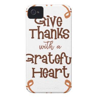 Capa Para iPhone Dê obrigados com um coração grato
