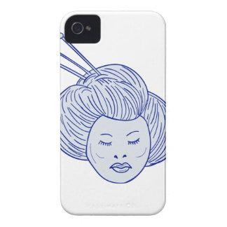 Capa Para iPhone Desenho da cabeça da menina de gueixa