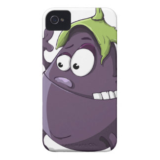 Capa Para iPhone Desenhos animados Toothy Eyed da beringela vegetal
