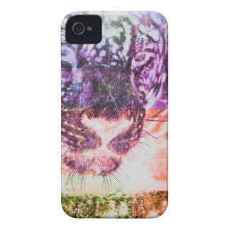 Capa Para iPhone Design do gato de Jaguar do arco-íris