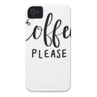 Capa Para iPhone Do CAFÉ caligrafia POR FAVOR