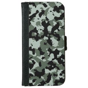 Capa Carteira Para iPhone 6 6s Teste padrão verde militar da camuflagem 4b2fa569b12
