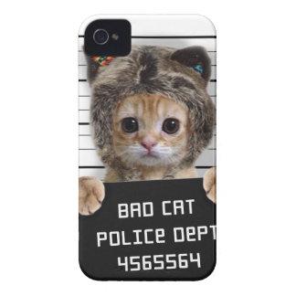 Capa Para iPhone gato do mugshot - gato louco - gatinho - felino