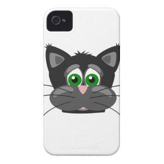 Capa Para iPhone gato preto Verde-eyed