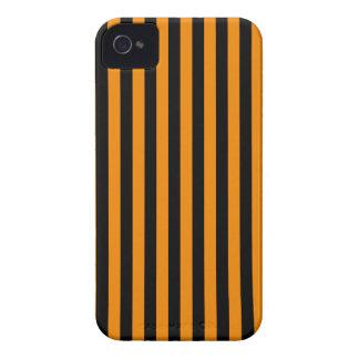 Capa Para iPhone Listras finas - preto e tangerina