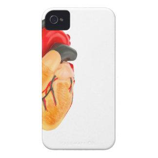 Capa Para iPhone Modelo humano do coração no fundo branco