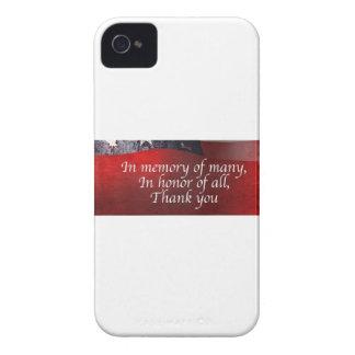 Capa Para iPhone Na memória de muitos em honra de todo o obrigado