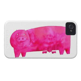 Capa Para iPhone Porco cor-de-rosa com leitão