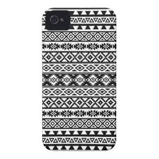 Capa Para iPhone Preto & branco estilizados astecas do teste padrão