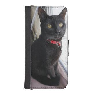 Capa Para iPhone SE/5/5s Caixa da carteira de Iphone 5/5s com gato preto