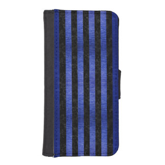 CAPA PARA iPhone SE/5/5s MÁRMORE STRIPES1 PRETO & METAL ESCOVADO AZUL