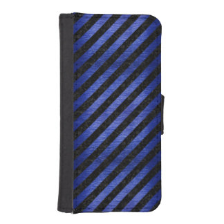 CAPA PARA iPhone SE/5/5s MÁRMORE STRIPES3 PRETO & METAL ESCOVADO AZUL
